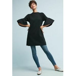 Moth Anthropologie Chester Black Bell Sleeve Tunic